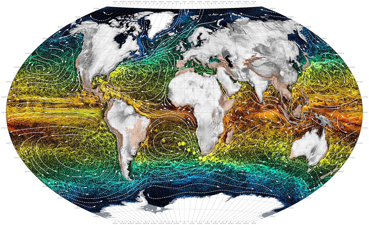 World maps ocean currents ocean currents gumiabroncs Images