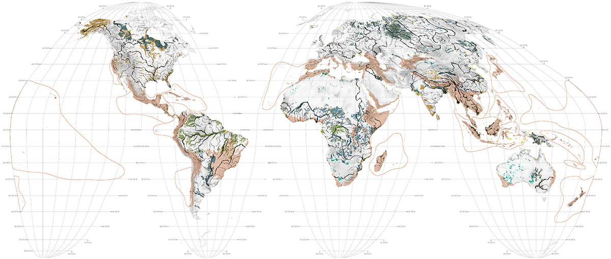 World Maps Rivers Wetlands