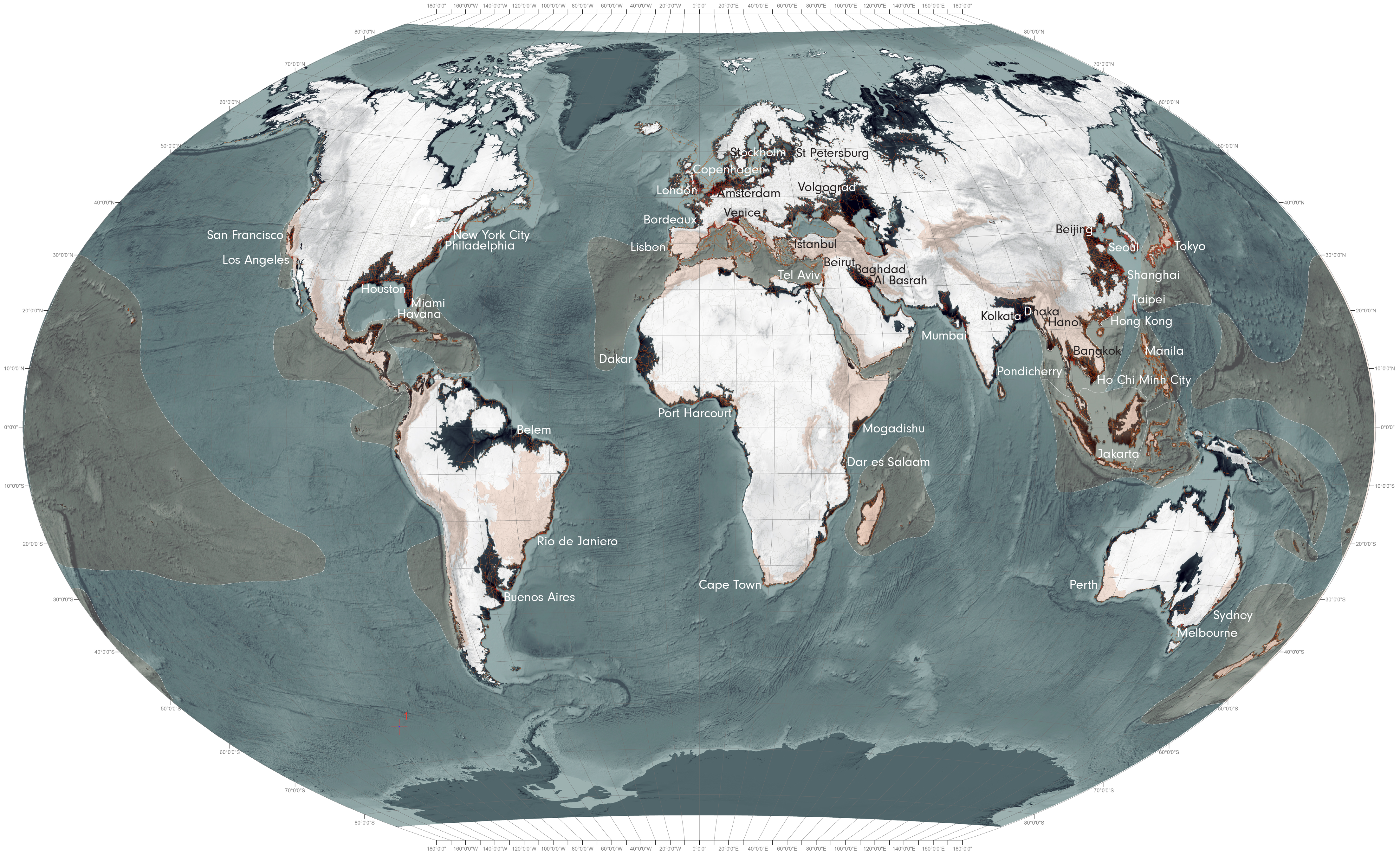 World Maps Sea Level Rise